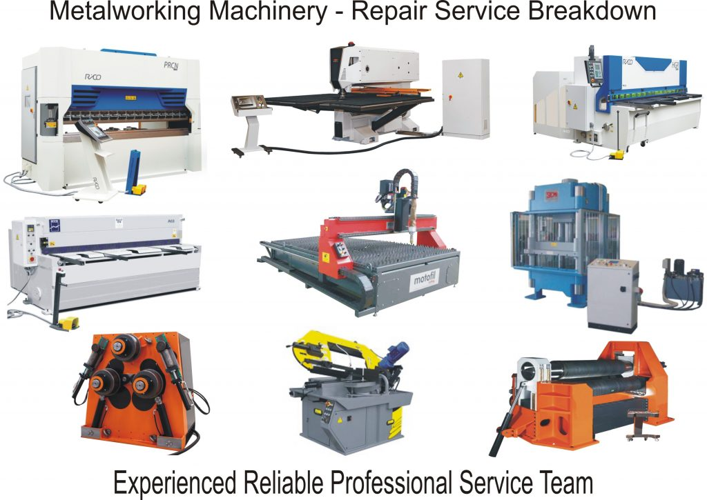 Metalworking Machinery Repair Service Breakdown